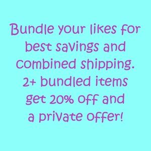 bundle discount Please read